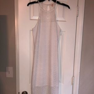 Guess White Lace Maxi Dress